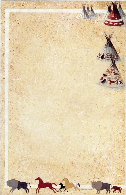 NP-671 Indian Tepee Design by Skeeter Leard