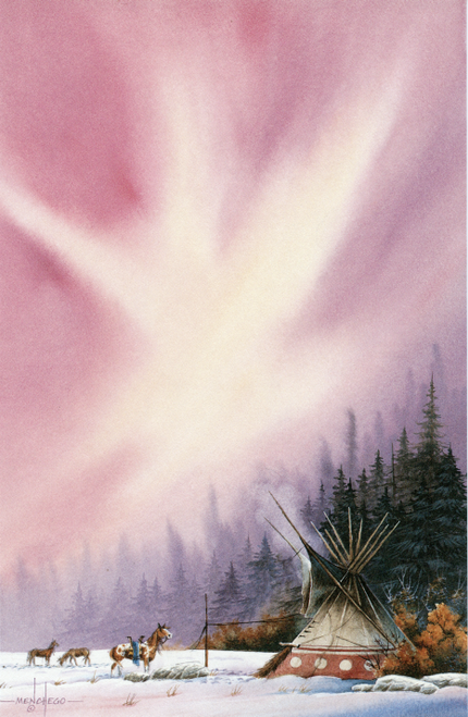NP-683 Indian Camp Design by Art Menchego