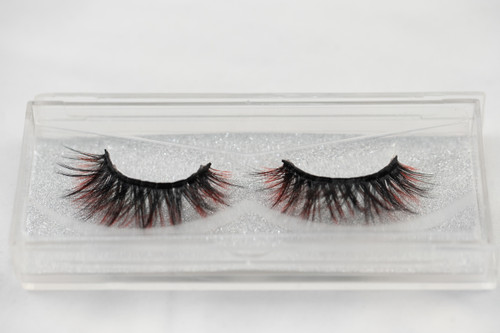 25 mm silk eyelashes, eyelashes, silk lashes black, red, false lashes, strip lashes