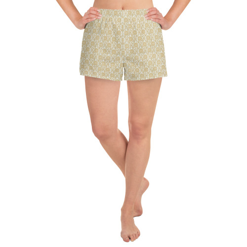 Golden Lace Athletic Short Shorts