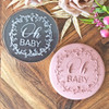 Oh Baby Floral Wreath Cookie Stamp