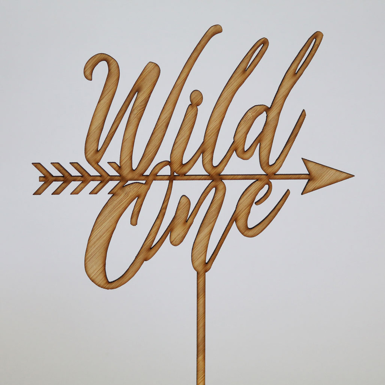 Wild One Bamboo Cake Topper