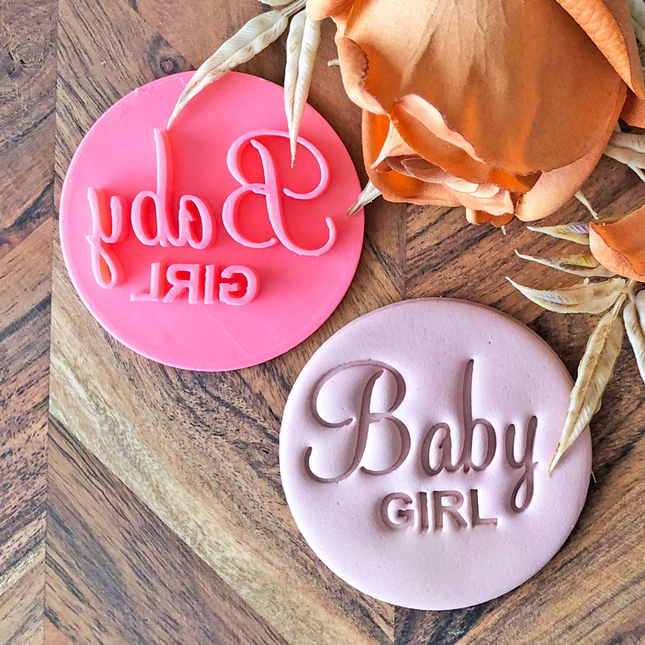 Baby Girl Cookie Stamp