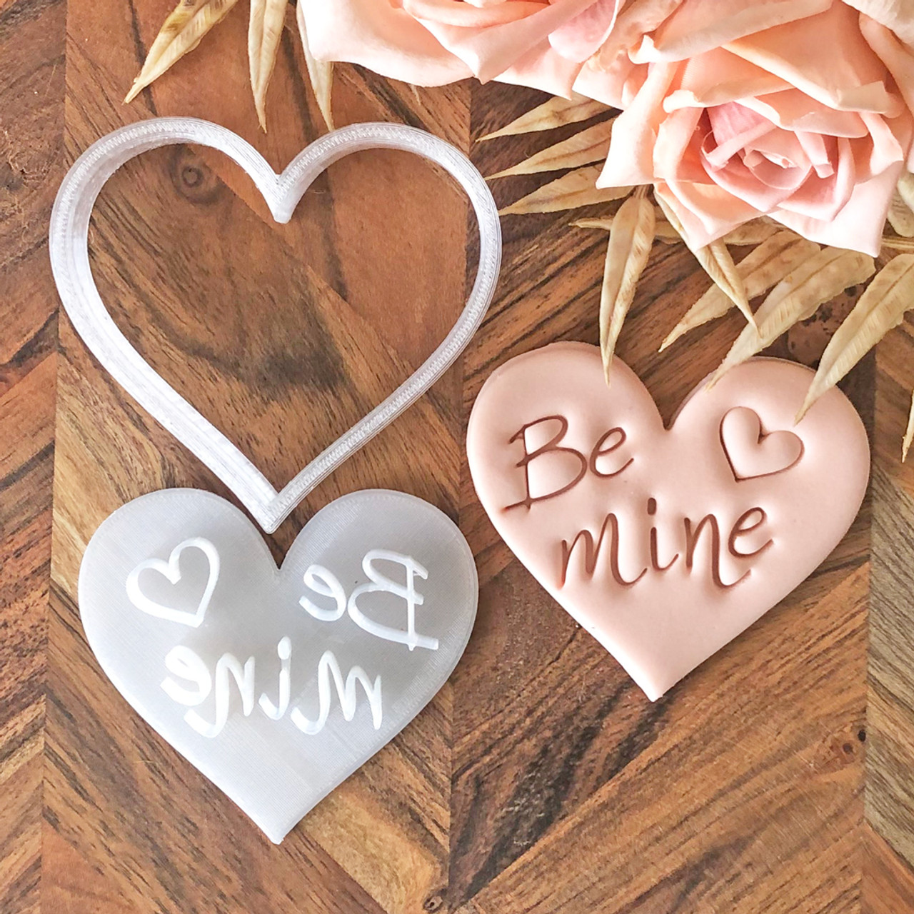 Be Mine Cookie Stamp &  Heart Cutter Set