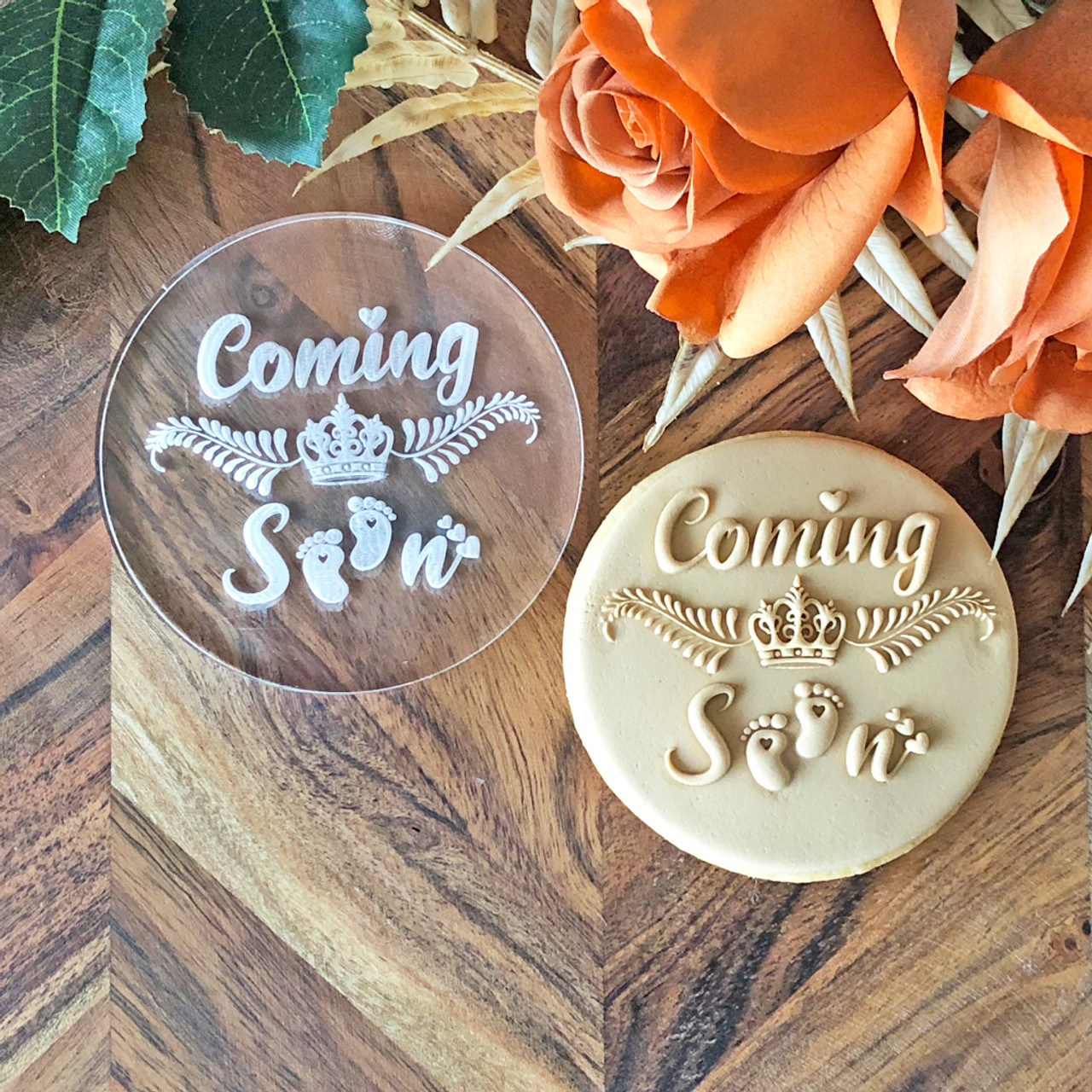 Coming Soon - Baby Shower - Cookie Stamp