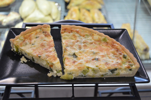 Cheese & Spring Onion Quiche