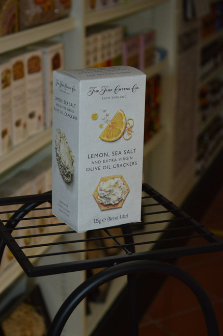 Lemon Sea Salt Olive Oil Crackers