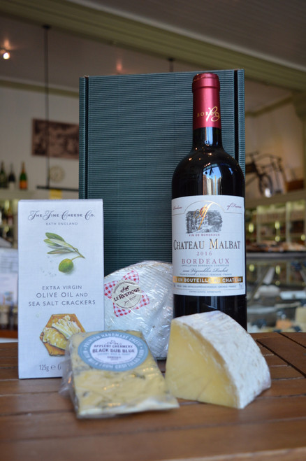 Claret & Cheese in Card Gift Box