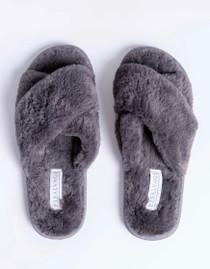 Charcoal Fur Slides