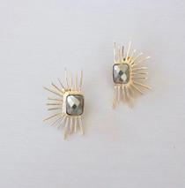 Pyrite Chloe Earring