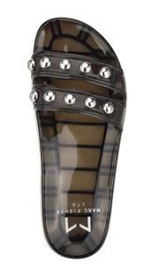 Trent Clear Black Jelly Sandal
