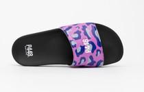 Lilac Leopard Slides