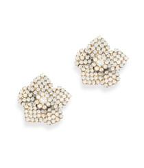 Bonnie White Opal Earrings