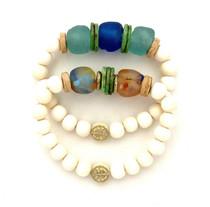 Blue & Green Double Bracelet Stack
