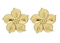 BRPB4078POL Flor Flower Studs Polished
