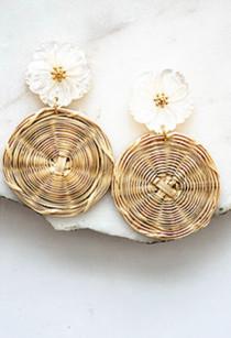 Daria Rattan Earrings