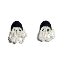 Jet Jellyfish Pearl Earring