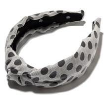 B/W Polka Dot Headband