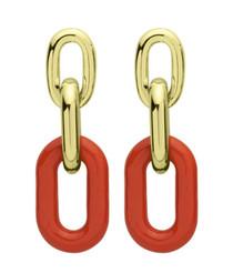 Orange Shakedown Earrings RBRR1013OR