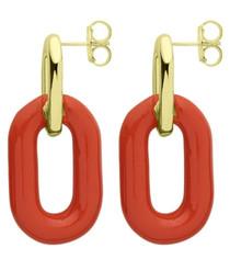 Orange Small Shakedown Earring RBRR1012OR