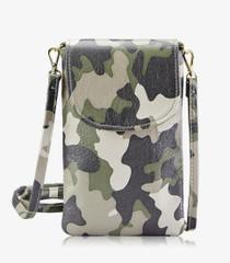 Emmie Phone Crossbody - Military Camo Leather