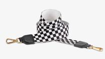 Webbing Strap - Black & White Check