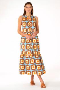 Ro Geo Long Dress