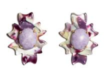 Plum Sky Santa Fe Stone Button Earring