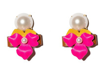 Prickly Pear Leather Floral Bolo Earring