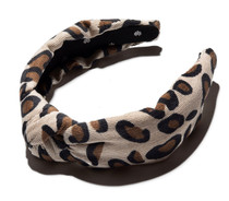 Latte Leopard Corduroy Headband