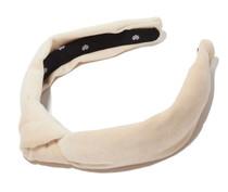 Latte Velvet Slim Headband