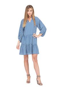Stripe Tiered L/S Dress