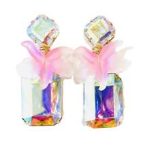 Wild Orchid Aurora Borealis Earring