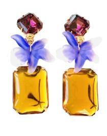 Wild Orchid Amethyst & Citrine Earring