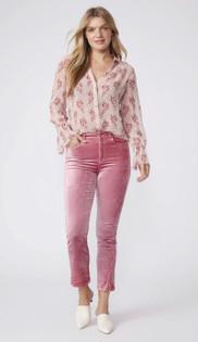 Cindy Twisted Seam Split Velvet Jean