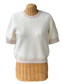 Caxixi Sweater Top - Ecru/Beige