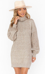 Chester Oatmeal Sweater Dress