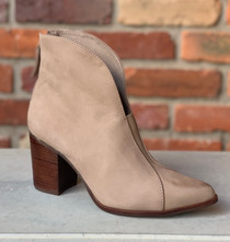 Bonita Taupe Over Ankle Bootie
