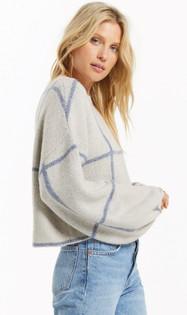 Solange Pebble Plaid Sweater