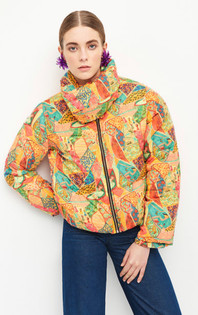 Leaf Jacket - Orange Multi