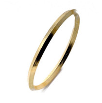 BA29 Large Peak Bangle - Gold