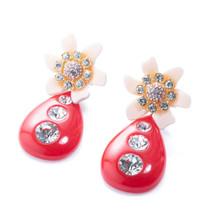 Flower Bulb Earring - Peach