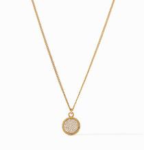 Fleur-De-Lis Gold Pave CZ Necklace N378GCZ00