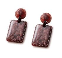 Blarney Earring - Garnet