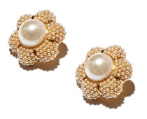 Pearl Carnation Button Earring