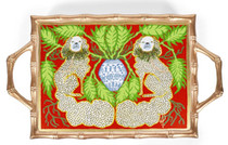 Staffies Holiday Enameled Chang Mai Tray