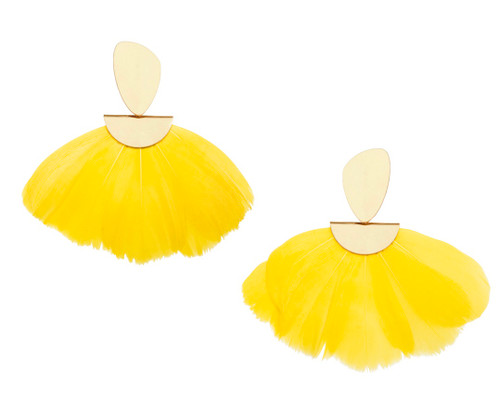 Cloud Monochrome Earring- Yellow