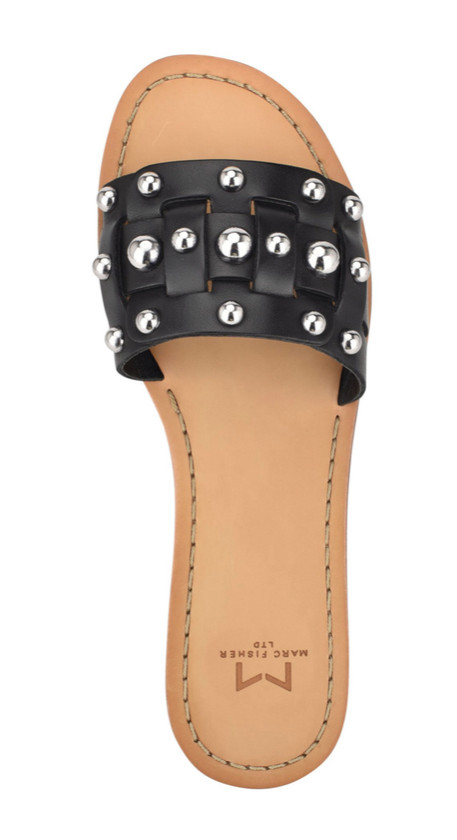 Pacca Black Studded Sandal