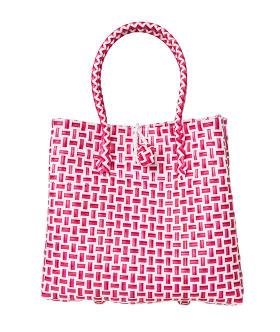 Pink Checker Mini Ella PlasticTote
