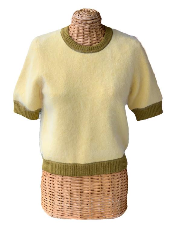 Caxixi Sweater Top - Lemon/Kiwi